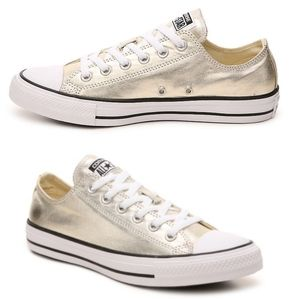 Converse - Metallic Gold Low Top Converse
